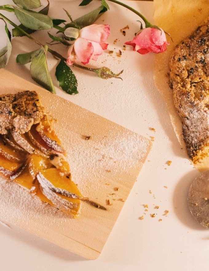 Whole wheat & ricotta peach galette