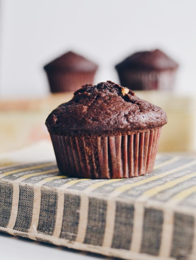 Double chocolate rye muffins inspired by Green Kitchen Stories