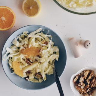White cabbage & fruits salad