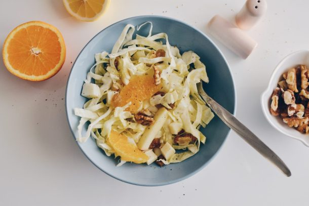 White cabbage & fruits salad