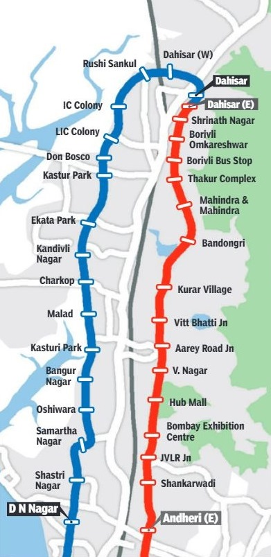 Mumbai Metro Routes 7 and 2A