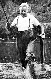 Oregon Governor Tom McCall Catches a Fish