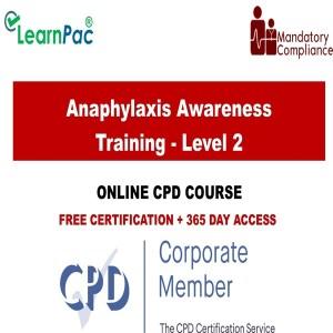 Anaphylaxis Awareness Training - Level 2 - Mandatory Training Group UK -