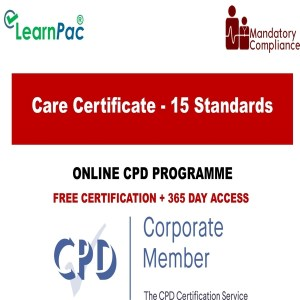 Care Certificate - 15 Standards - The Mandatory Training Group UK -
