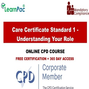 Care Certificate Standard 1 - Understanding Your Role - Mandatory Training Group UK -