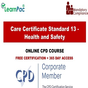Care Certificate Standard 13 - Health and Safety - Mandatory Training Group UK -