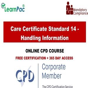 Care Certificate Standard 14 - Handling Information - Mandatory Training Group UK -