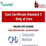 Care Certificate Standard 3 – Duty of Care – The Mandatory Training Group UK –