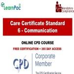 Care Certificate Standard 6 - Communication - The Mandatory Training Group UK -