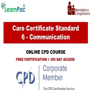 Care Certificate Standard 6 - Communication - The Mandatory Training Group UK -