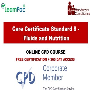 Care Certificate Standard 8 - Fluids and Nutrition - Mandatory Training Group UK -
