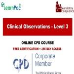 Clinical Observations - Level 3 - The Mandatory Training Group UK -