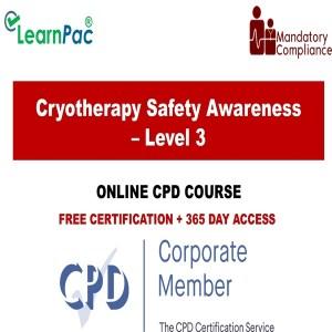 Cryotherapy Safety Awareness – Level 3 - The Mandatory Training Group UK -