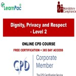 Dignity, Privacy and Respect – Level 2 – Mandatory Training Group UK –