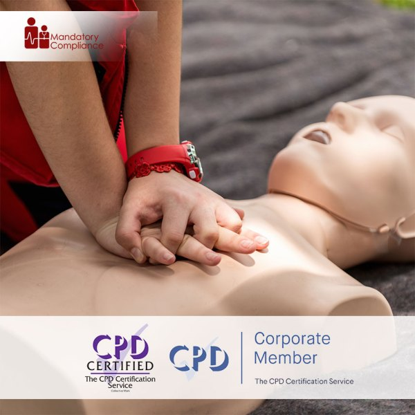 Emergency First Aid at Work – Level 2 – Online Training Course – CPDUK Accredited – Mandatory Compliance UK –