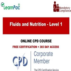 Fluids and Nutrition - Level 1 - Mandatory Training Group UK -