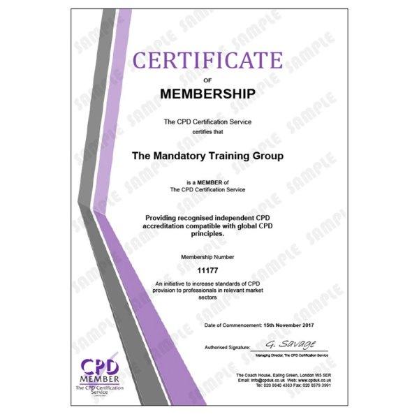 Food Safety – Level 2 – E-Learning Course – CDPUK Accredited – Mandatory Compliance UK –