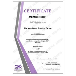 Food Safety – Level 2 - E-Learning Course - CDPUK Accredited - Mandatory Compliance UK -