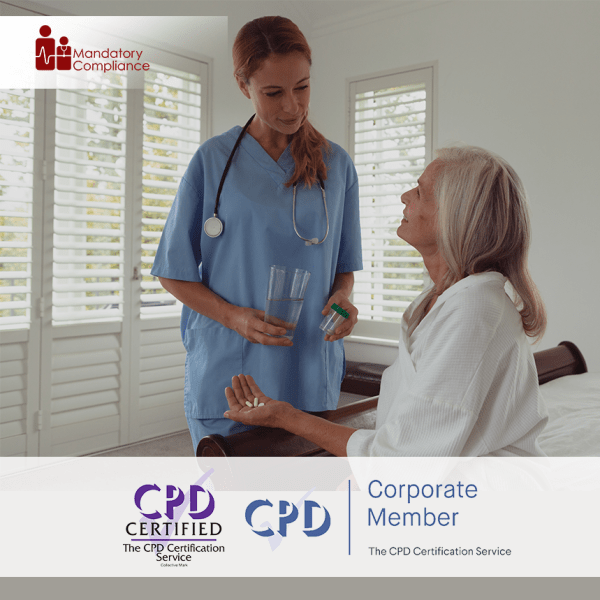 Medication Management for Domiciliary Care – Online Training Course – CPD Accredited – Mandatory Compliance UK –