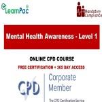 Mental Health Awareness – Level 1 – The Mandatory Training Group UK –