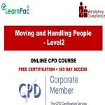 Moving and Handling People – Level 2 – Online Training Course – The Mandatory Training Group UK –