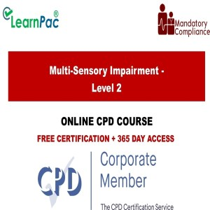 Multi-Sensory Impairment - Level 2 - Mandatory Training Group UK -