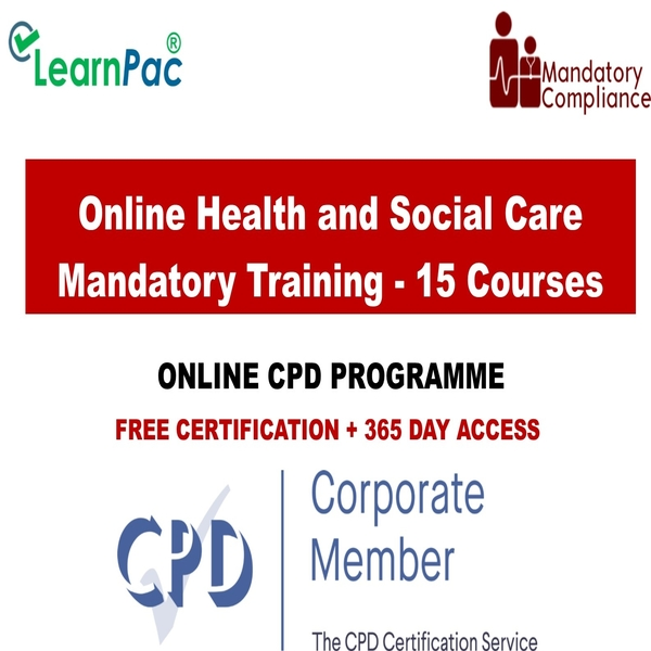 Online Health and Social Care – 15 courses – Mandatory Training Group UK –