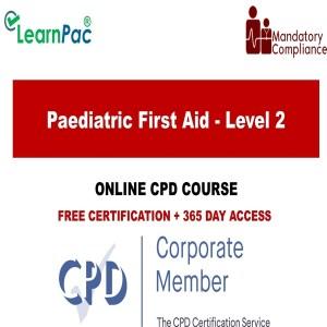 Paediatric First Aid - Level 2 - Mandatory Training Group UK -