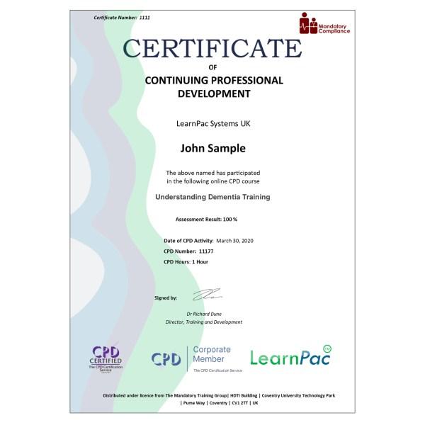 Understanding Dementia Training – eLearning Course – CPD Certified – Mandatory Compliance UK –
