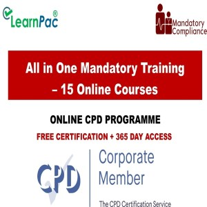 All in One Mandatory Training – 15 Online Courses - Mandatory Training Group UK -