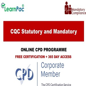 CQC Statutory and Mandatory Training Courses - CPD Accredited - Mandatory Training Group UK -