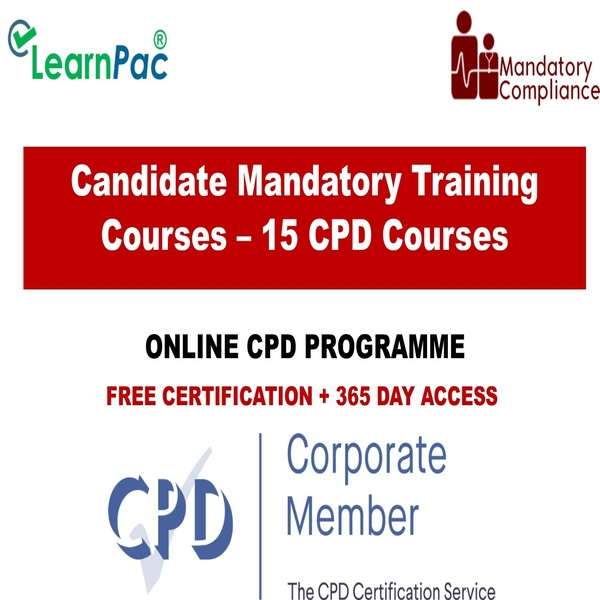 Candidate Mandatory Training Courses – 15 CPD Courses – Mandatory Training Group UK –
