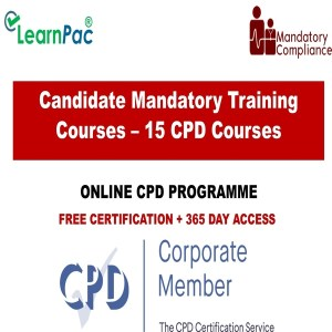 Candidate Mandatory Training Courses – 15 CPD Courses - Mandatory Training Group UK -