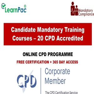 Candidate Mandatory Training Courses – 20 CPD Accredited Courses - Mandatory Training Group UK -