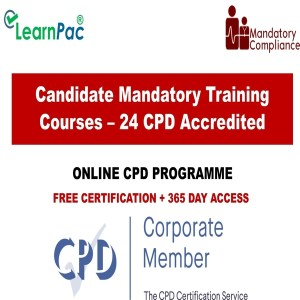 Candidate Mandatory Training Courses – 24 CPD Accredited Courses - Mandatory Training Group UK -
