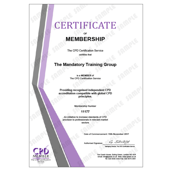 Candidate Mandatory Training Courses – E-Learning Course – CDPUK Accredited – Mandatory Compliance UK –