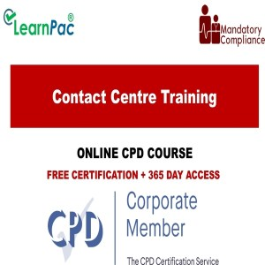Contact Centre Training – Online Training Course – CPD Accredited - Mandatory Training Group UK -