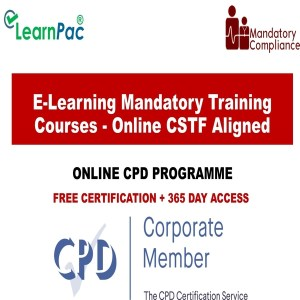 E-Learning Mandatory Training Courses - Online CSTF Aligned - Mandatory Training Group UK -