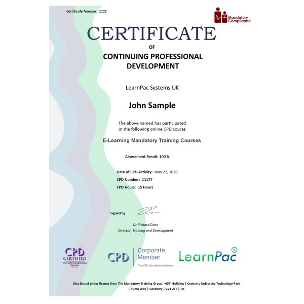 E-Learning Mandatory Training Courses – eLearning Course – CPD Certified – Mandatory Compliance UK –