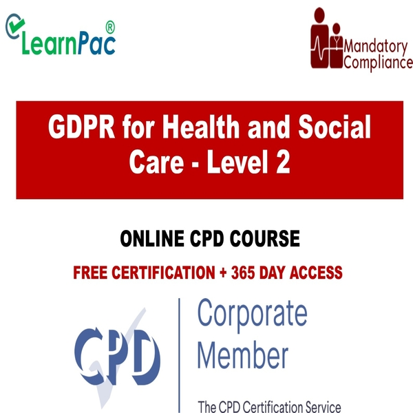 GDPR for Health and Social Care – Level 2 – Online Training Course – The Mandatory Training Group UK –