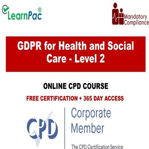 GDPR for Health and Social Care - Level 2 - Online Training Course - The Mandatory Training Group UK -