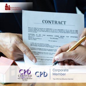 Contract Management - Online Training Course - CPDUK Accredited - Mandatory Compliance UK -