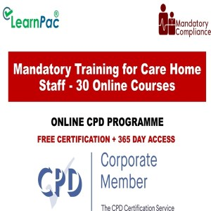 Mandatory Training for Care Home Staff - 30 Online Training Courses - Mandatory Training Group UK -