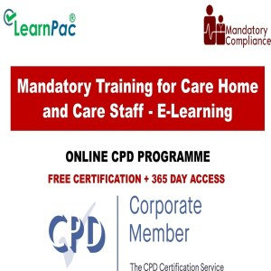 Mandatory Training for Care Home and Care Staff - E-Learning - Mandatory Training Group UK -