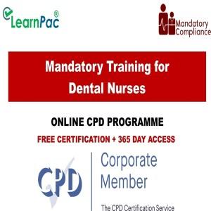 Mandatory Training for Dental Nurses – Online CPD Courses - Mandatory Training Group UK