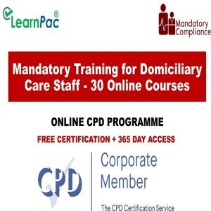 Mandatory Training for Domiciliary Care Staff - 30 Online Courses - Mandatory Training UK -