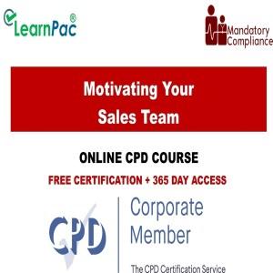 Motivating Your Sales Team training - Mandatory Training Group UK -