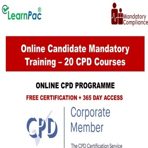 Online Candidate Mandatory Training – 20 CPD Accredited Courses - Mandatory Training Group -