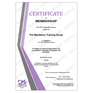 Statutory and Mandatory Training Courses for Health and Social Care - E-Learning Course - CDPUK Accredited