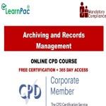 Archiving and Records Management - Mandatory Training Group UK -